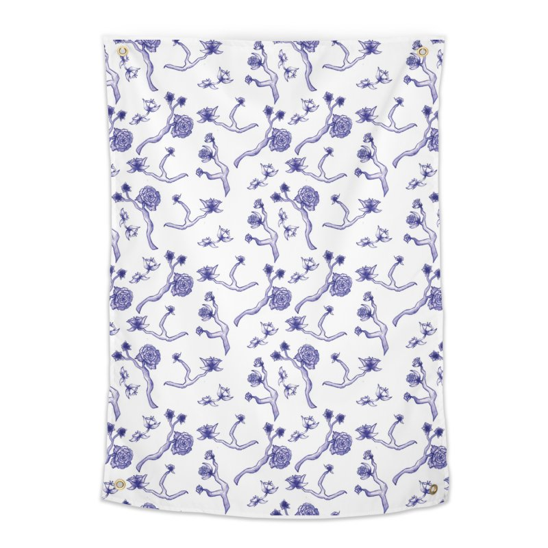 Flower Branches Home Tapestry by Svaeth's Artist Shop