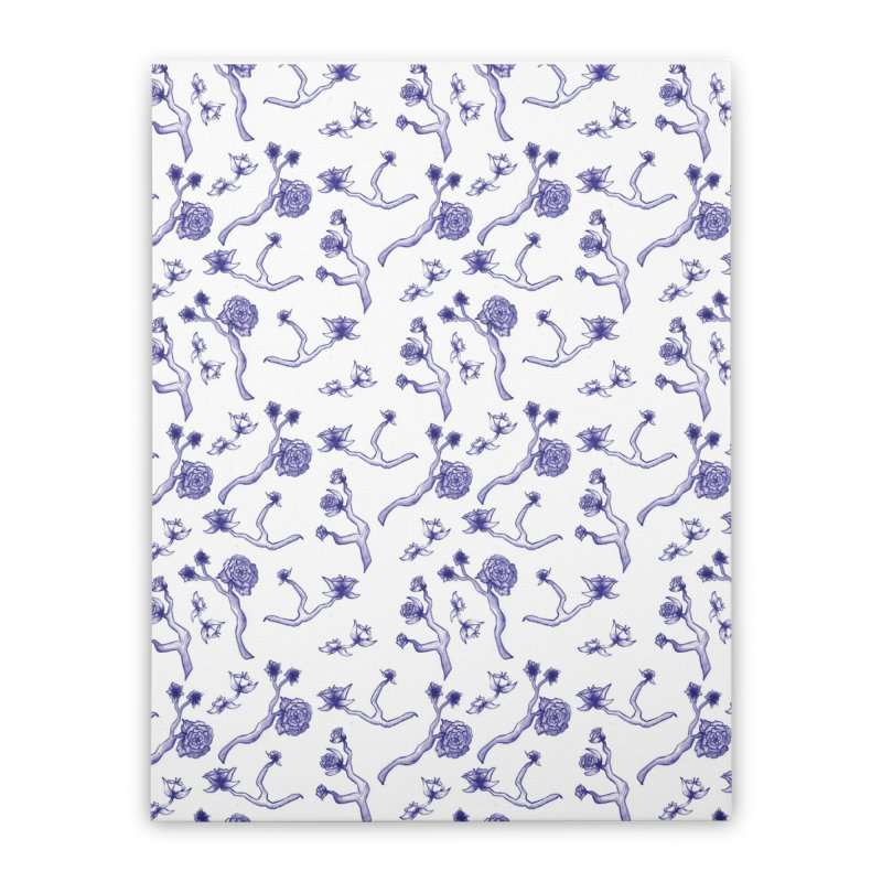 Flower Branches Home Stretched Canvas by Svaeth's Artist Shop