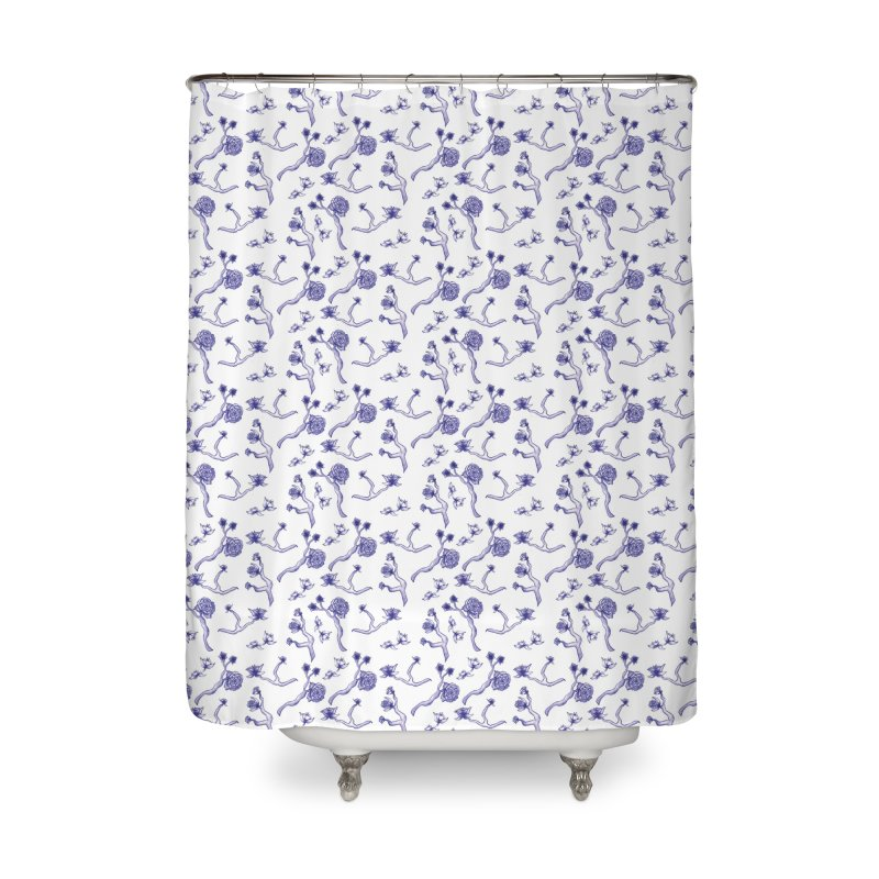 Flower Branches Home Shower Curtain by Svaeth's Artist Shop