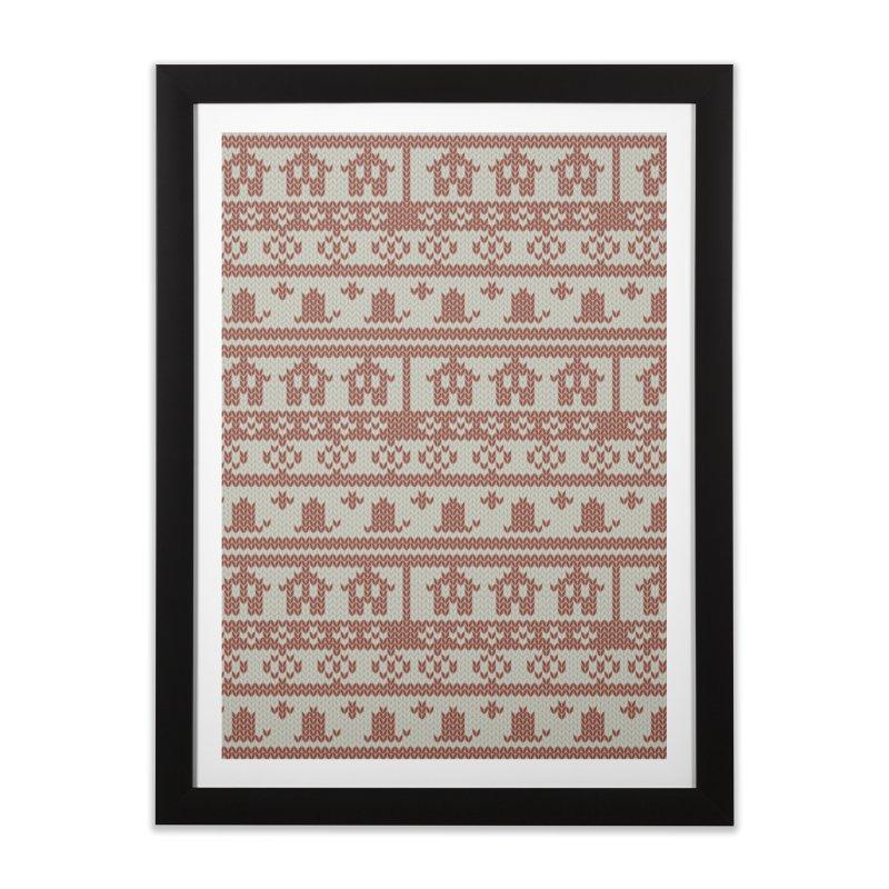Winter Knitting Home Framed Fine Art Print by Svaeth's Artist Shop