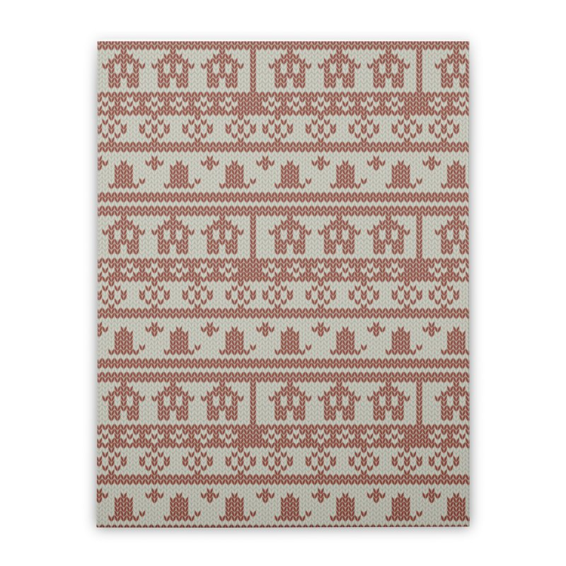 Winter Knitting Home Stretched Canvas by Svaeth's Artist Shop