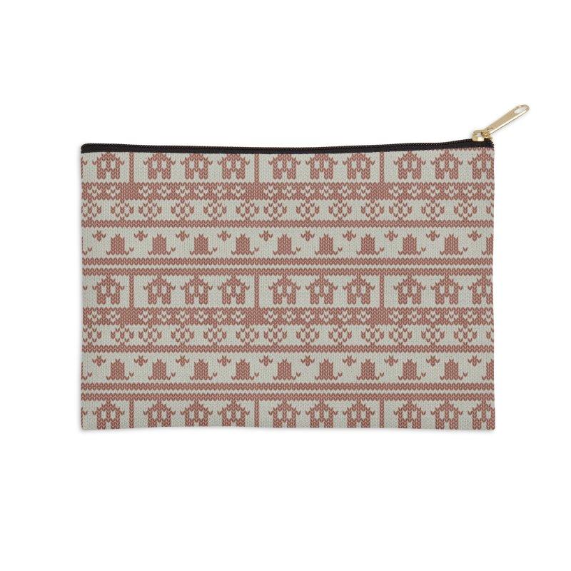 Winter Knitting Accessories Zip Pouch by Svaeth's Artist Shop