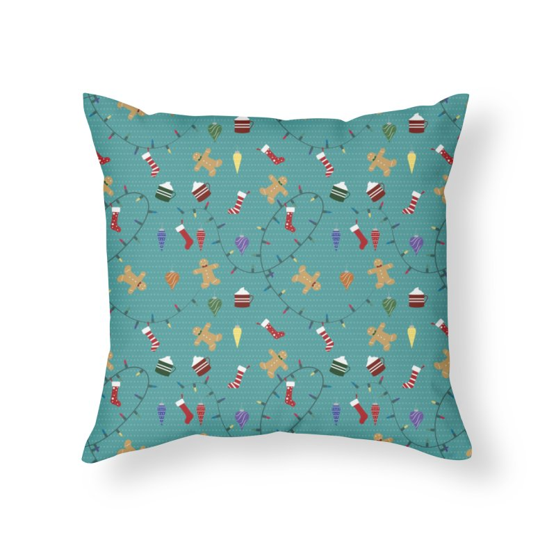 Holiday Decor Home Throw Pillow by Svaeth's Artist Shop