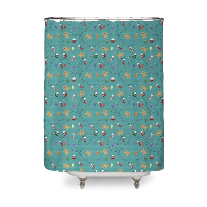 Holiday Decor Home Shower Curtain by Svaeth's Artist Shop