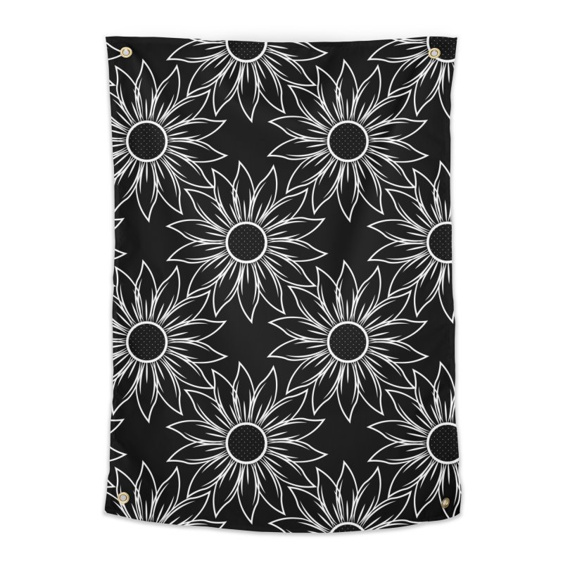Sunflowers Home Tapestry by Svaeth's Artist Shop