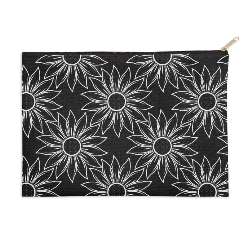 Sunflowers Accessories Zip Pouch by Svaeth's Artist Shop