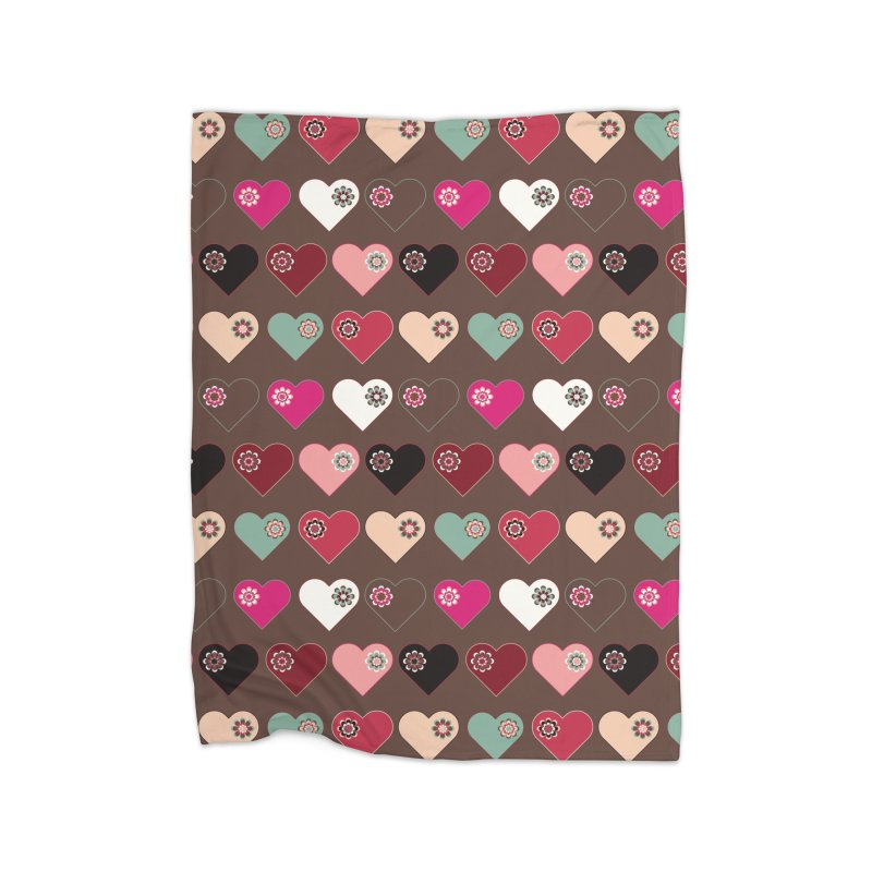 Flower Hearts Home Blanket by Svaeth's Artist Shop