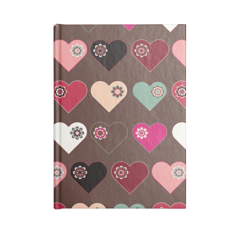 Flower Hearts Accessories Blank Journal Notebook by Svaeth's Artist Shop