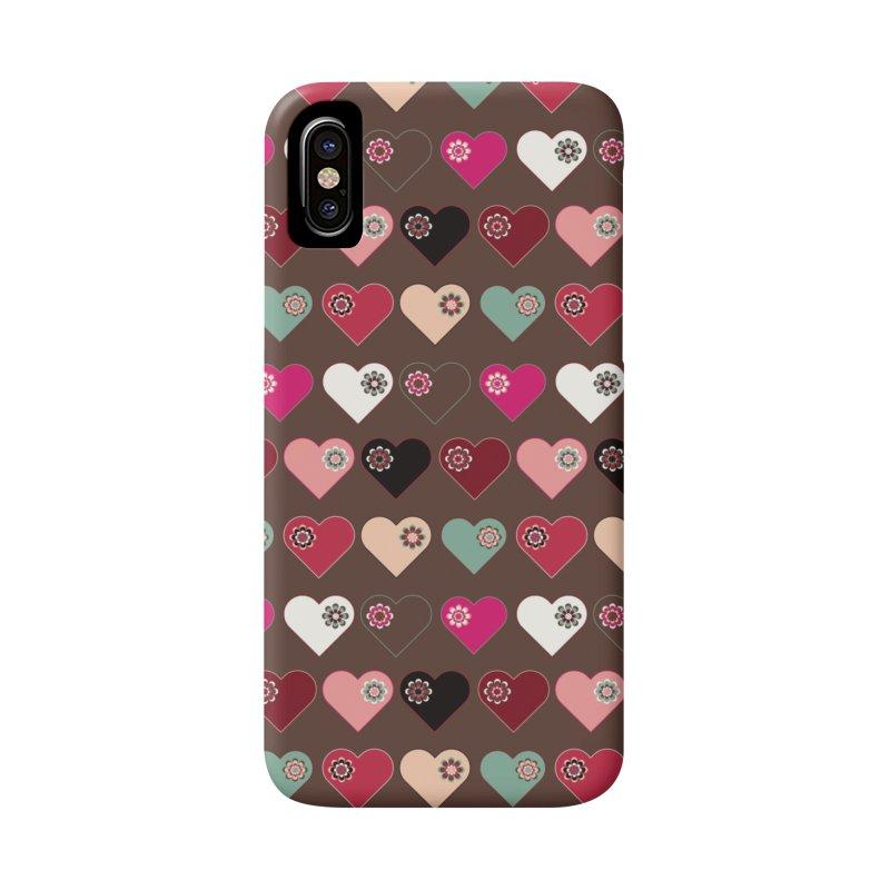 Flower Hearts Accessories Phone Case by Svaeth's Artist Shop