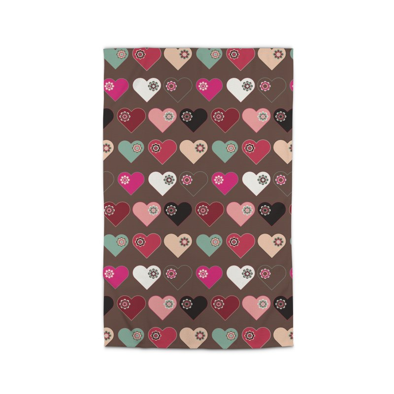 Flower Hearts Home Rug by Svaeth's Artist Shop