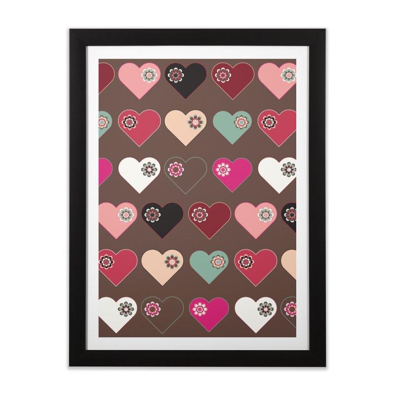 Flower Hearts Home Framed Fine Art Print by Svaeth's Artist Shop