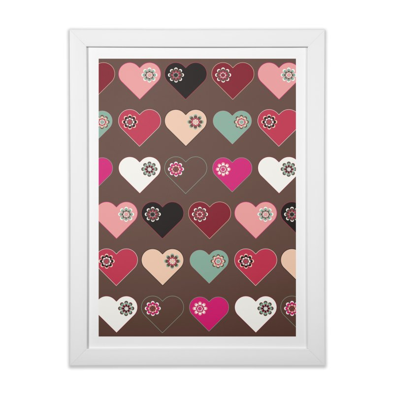 Flower Hearts Home Framed Fine Art Print by Svaeth's Artist Shop