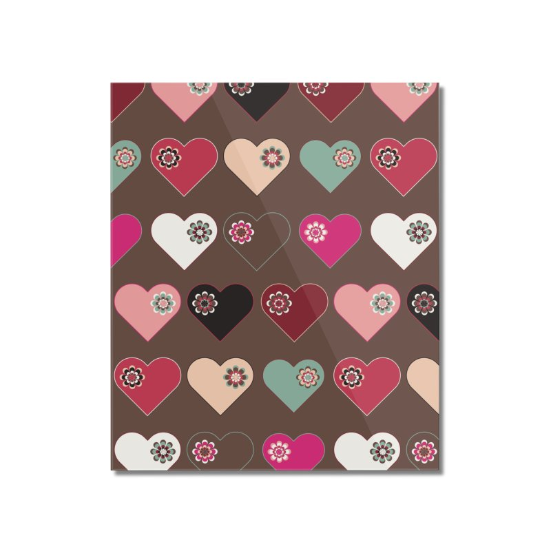 Flower Hearts Home Mounted Acrylic Print by Svaeth's Artist Shop