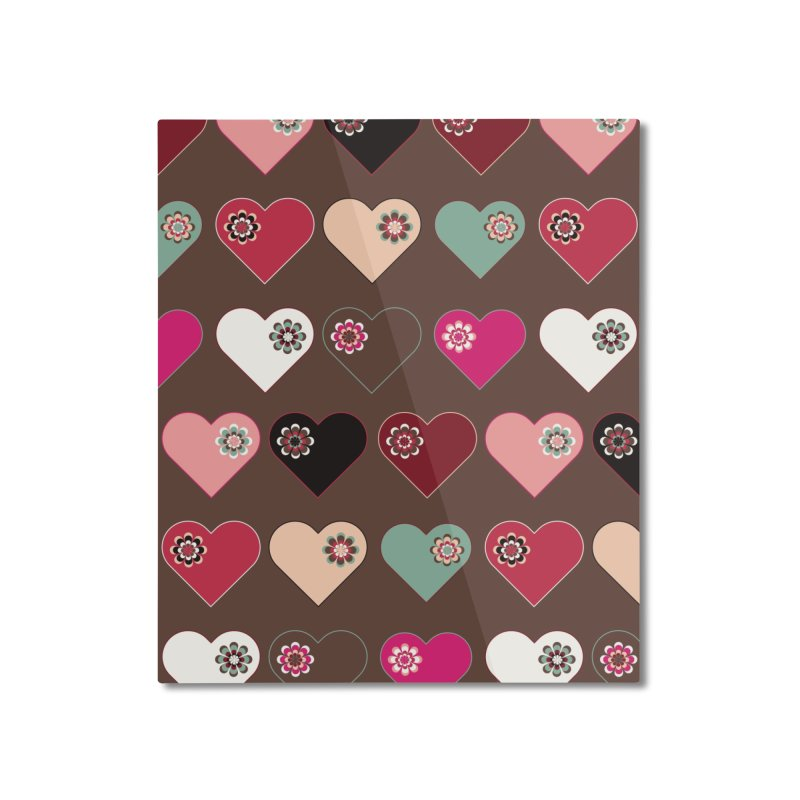 Flower Hearts Home Mounted Aluminum Print by Svaeth's Artist Shop