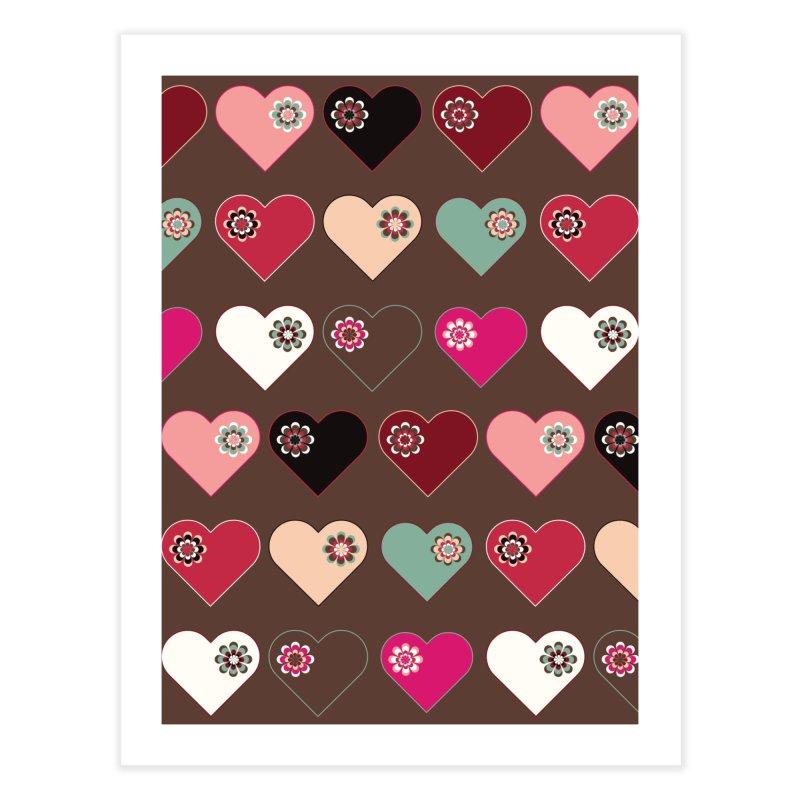 Flower Hearts Home Fine Art Print by Svaeth's Artist Shop