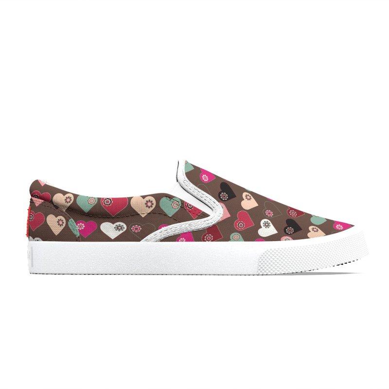 Flower Hearts Men's Shoes by Svaeth's Artist Shop