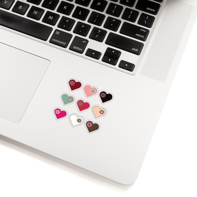 Flower Hearts Accessories Sticker by Svaeth's Artist Shop