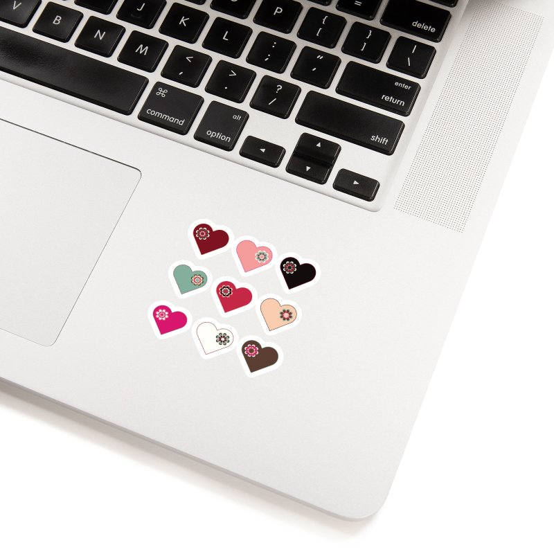 Flower Hearts Accessories Sticker by Svaeth's Artist Shop
