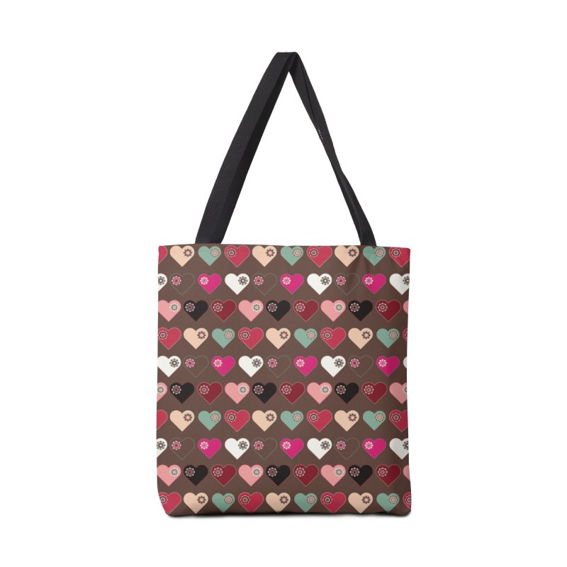 Flower Hearts Accessories Bag by Svaeth's Artist Shop