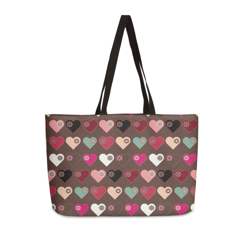 Flower Hearts Accessories Bag by Svaeth's Artist Shop