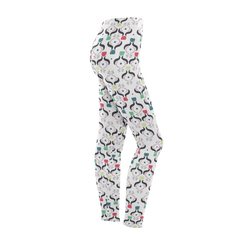 Floral Folk Art Women's Bottoms by Svaeth's Artist Shop