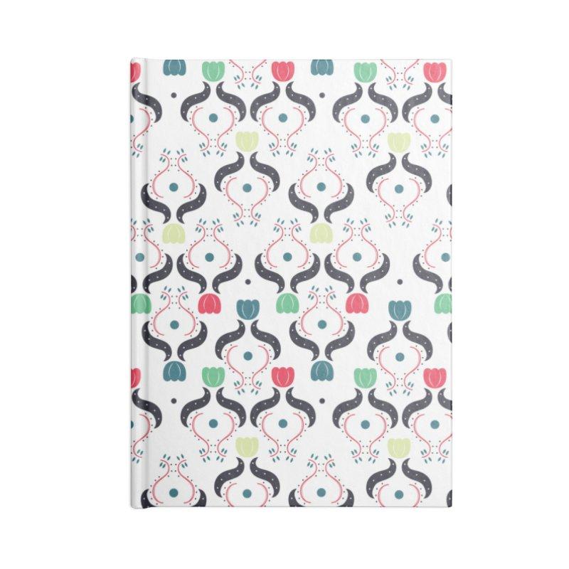 Floral Folk Art Accessories Lined Journal Notebook by Svaeth's Artist Shop