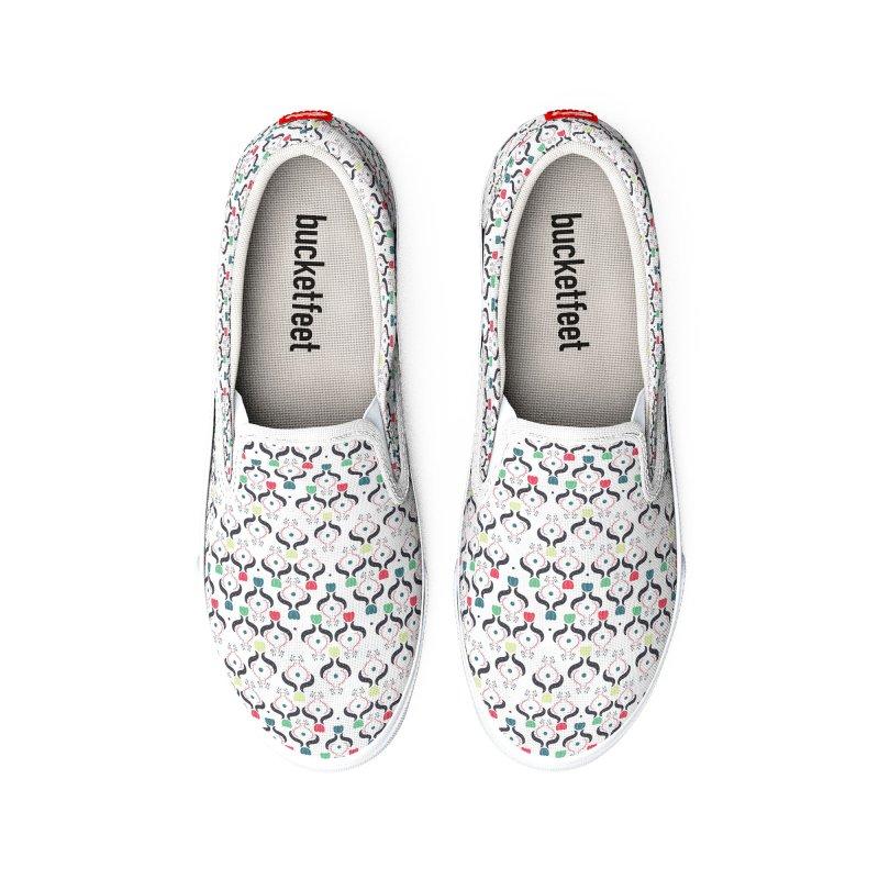 Floral Folk Art Men's Shoes by Svaeth's Artist Shop