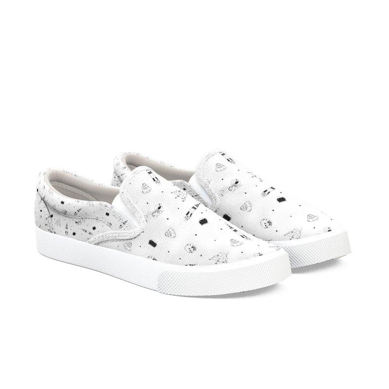 Moon Landing Women's Slip-On Shoes by Svaeth's Artist Shop