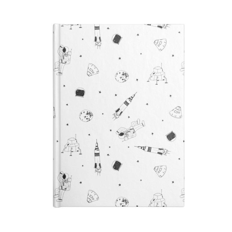 Moon Landing Accessories Lined Journal Notebook by Svaeth's Artist Shop