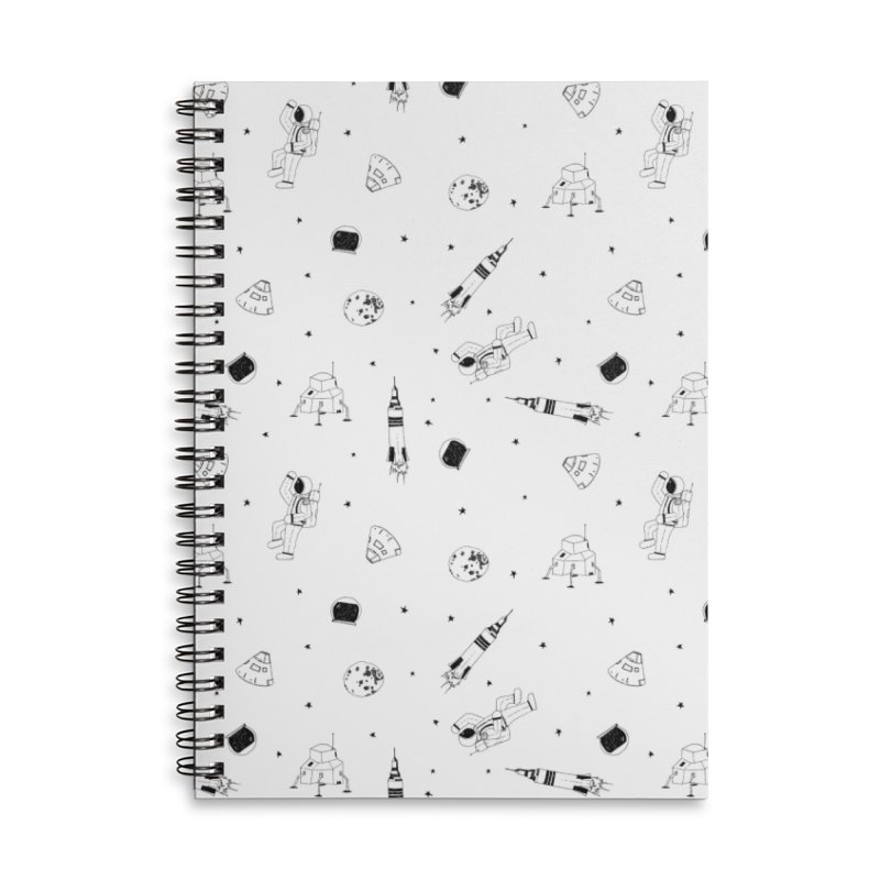 Moon Landing Accessories Lined Spiral Notebook by Svaeth's Artist Shop