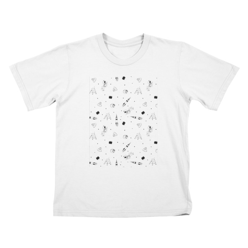 Moon Landing Kids T-Shirt by Svaeth's Artist Shop