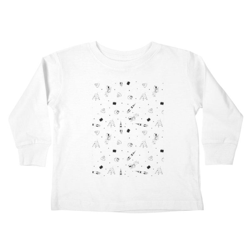 Moon Landing Kids Toddler Longsleeve T-Shirt by Svaeth's Artist Shop
