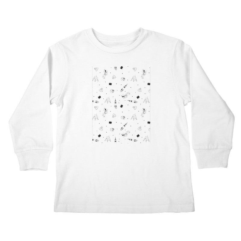 Moon Landing Kids Longsleeve T-Shirt by Svaeth's Artist Shop