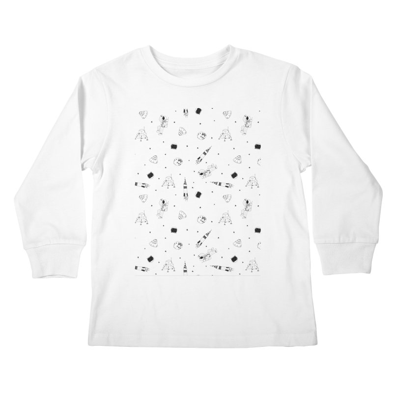 Moon Landing Kids Longsleeve T-Shirt by Svaeth's Artist Shop