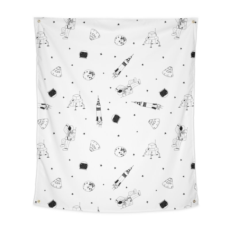 Moon Landing Home Tapestry by Svaeth's Artist Shop