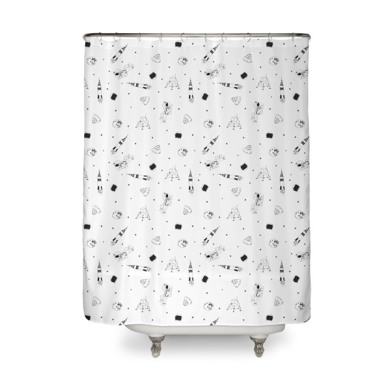 Moon Landing Home Shower Curtain by Svaeth's Artist Shop