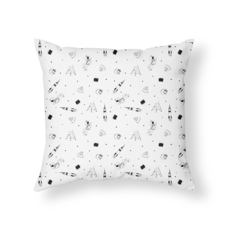 Moon Landing Home Throw Pillow by Svaeth's Artist Shop