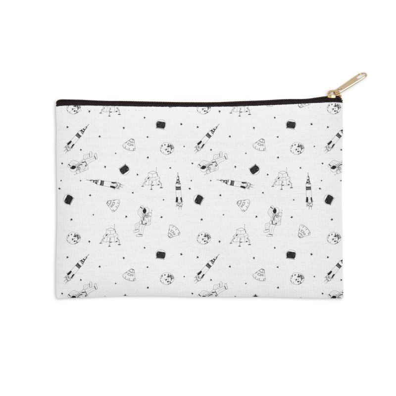 Moon Landing Accessories Zip Pouch by Svaeth's Artist Shop