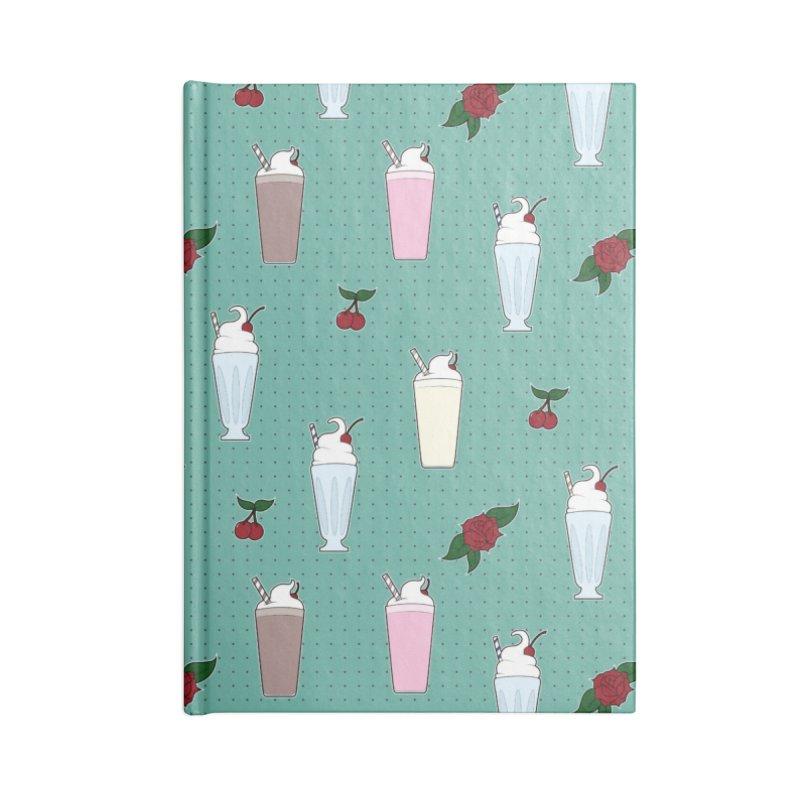 Rockabilly Milkshakes Accessories Lined Journal Notebook by Svaeth's Artist Shop