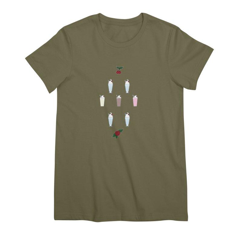 Rockabilly Milkshakes Women's Premium T-Shirt by Svaeth's Artist Shop