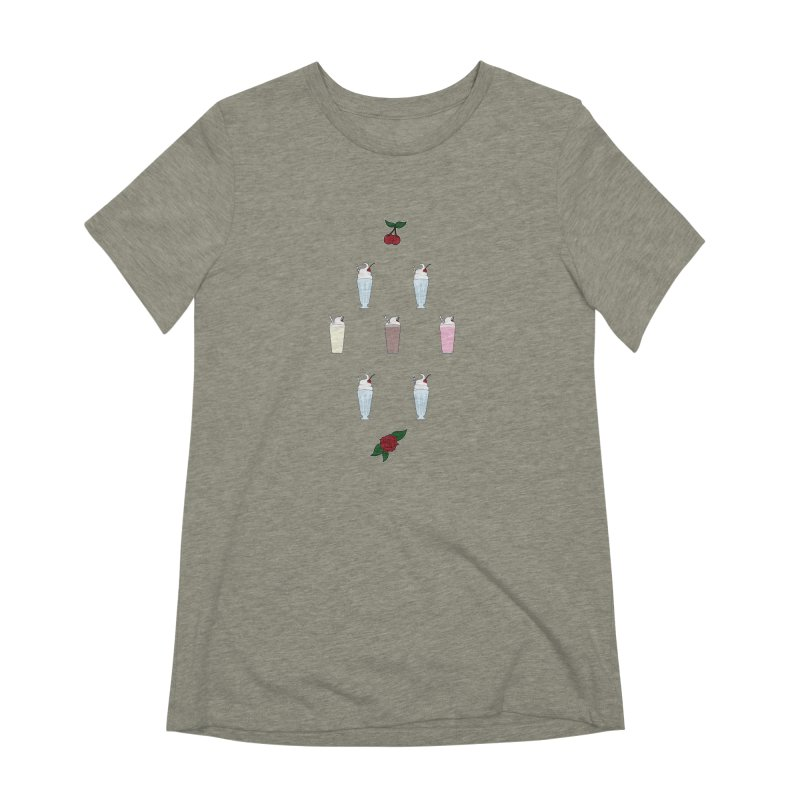 Rockabilly Milkshakes Women's Extra Soft T-Shirt by Svaeth's Artist Shop