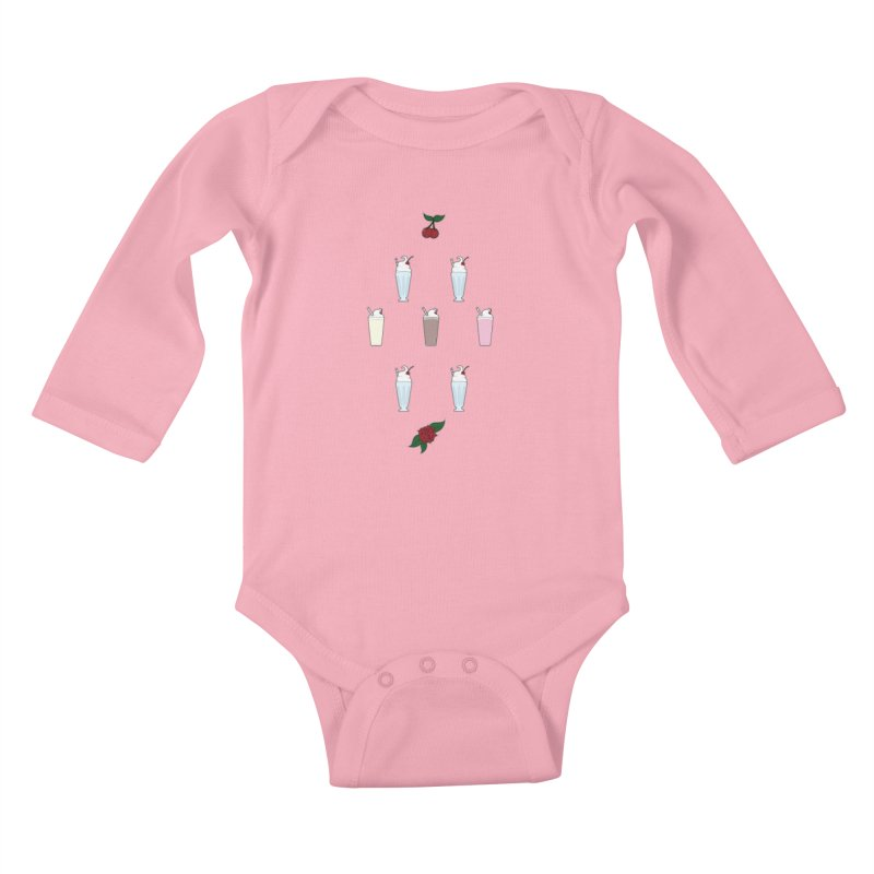 Rockabilly Milkshakes Kids Baby Longsleeve Bodysuit by Svaeth's Artist Shop