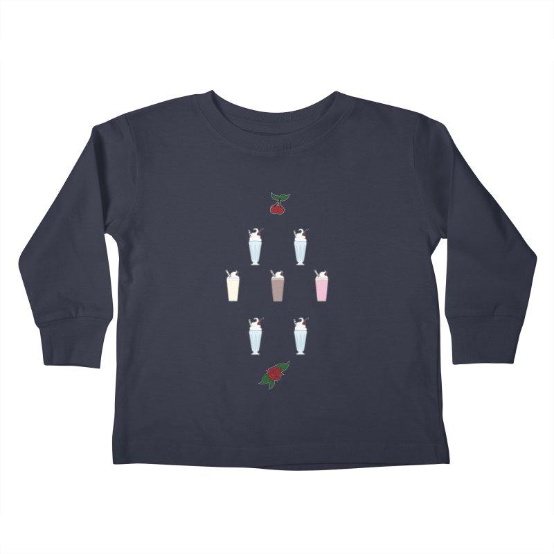 Rockabilly Milkshakes Kids Toddler Longsleeve T-Shirt by Svaeth's Artist Shop