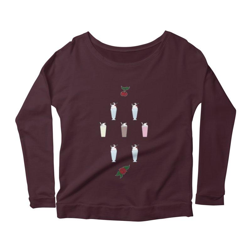 Rockabilly Milkshakes Women's Scoop Neck Longsleeve T-Shirt by Svaeth's Artist Shop