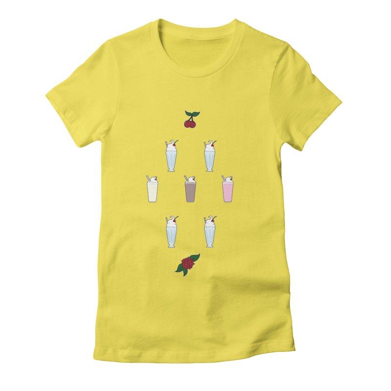 Rockabilly Milkshakes Women's Fitted T-Shirt by Svaeth's Artist Shop