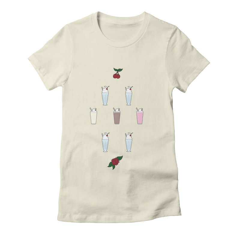 Rockabilly Milkshakes Women's Fitted T-Shirt by Svaeth's Artist Shop