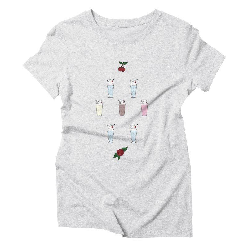 Rockabilly Milkshakes Women's Triblend T-Shirt by Svaeth's Artist Shop