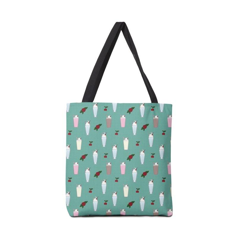 Rockabilly Milkshakes Accessories Tote Bag Bag by Svaeth's Artist Shop
