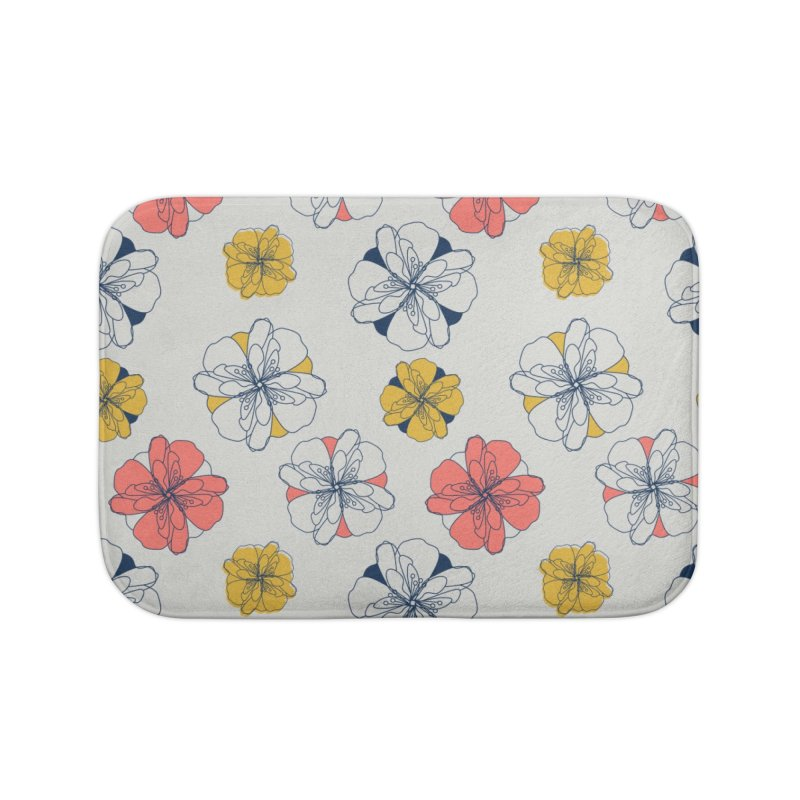 Springtime Floral Home Bath Mat by Svaeth's Artist Shop