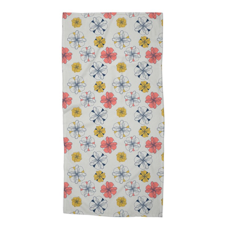 Springtime Floral Accessories Beach Towel by Svaeth's Artist Shop